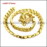 Stainless Steel Chain Neckalce n003126GW15