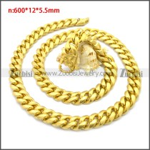 Stainless Steel Chain Neckalce n003133G4