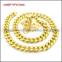 Stainless Steel Chain Neckalce n003133G1
