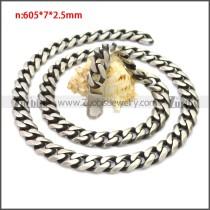 Stainless Steel Chain Neckalce n003138SHW10