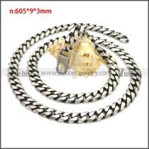 Stainless Steel Chain Neckalce n003138SHW9