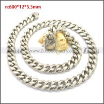Stainless Steel Chain Neckalce n003133S2