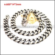 Stainless Steel Chain Neckalce n003137SHW14