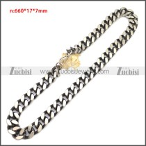 Stainless Steel Chain Neckalce n003148SA1