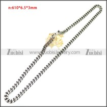 Stainless Steel Chain Neckalce n003144SA4