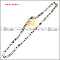 Stainless Steel Chain Neckalce n003147SA4