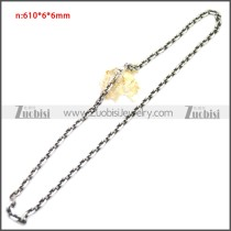 Stainless Steel Chain Neckalce n003146SA2