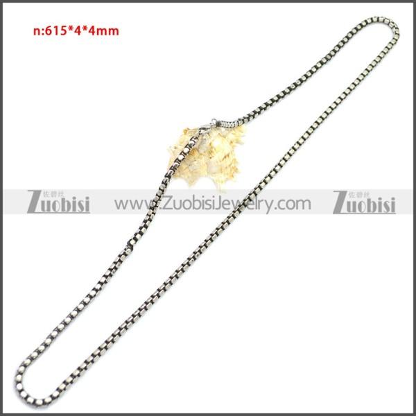 Stainless Steel Chain Neckalce n003150SA4