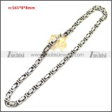 Stainless Steel Chain Neckalce n003147SA2