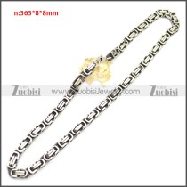 Stainless Steel Chain Neckalce n003147SA2