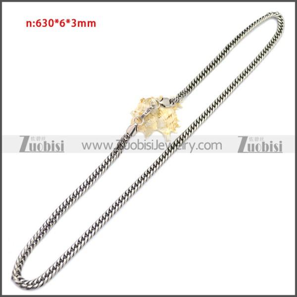 Stainless Steel Chain Neckalce n003149SA3