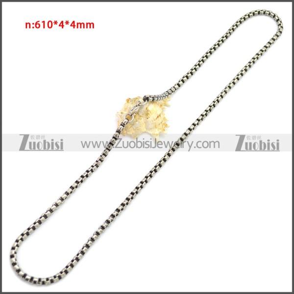 Stainless Steel Chain Neckalce n003151S4