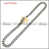 Stainless Steel Chain Neckalce n003148SA3