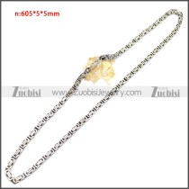 Stainless Steel Chain Neckalce n003147SA5