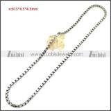 Stainless Steel Chain Neckalce n003150SA3