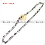 Stainless Steel Chain Neckalce n003147SA3