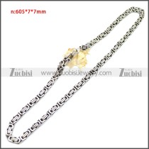 Stainless Steel Chain Neckalce n003147SA3