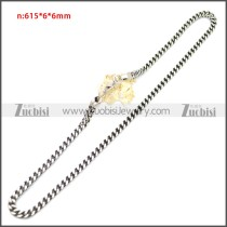 Stainless Steel Chain Neckalce n003145S2