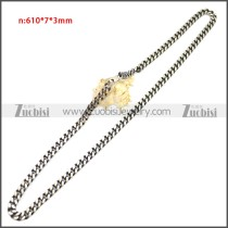 Stainless Steel Chain Neckalce n003148SA5