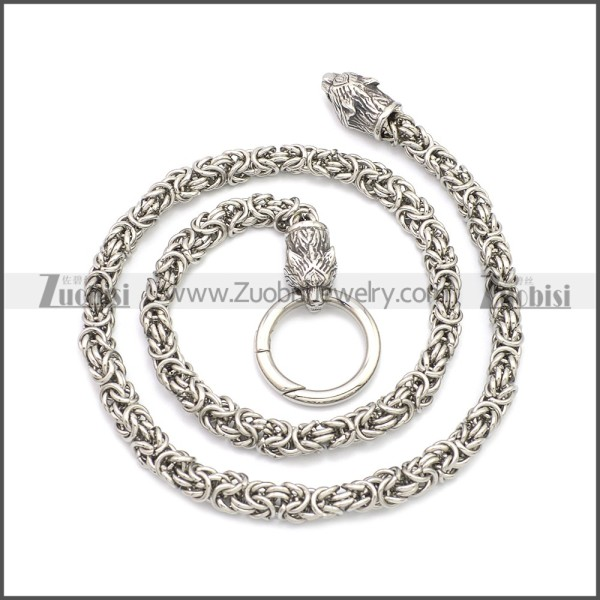 Tiger Viking Chain Necklace n003154S