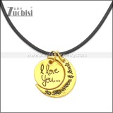 Rubber Necklace W Stainless Steel Clasp n003193HG