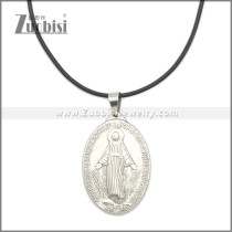 Rubber Necklace W Stainless Steel Clasp n003180HS