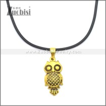 Rubber Necklace W Stainless Steel Clasp n003187HG