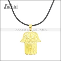 Rubber Necklace W Stainless Steel Clasp n003176HG2
