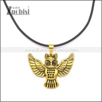 Rubber Necklace W Stainless Steel Clasp n003178HG1