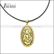 Rubber Necklace W Stainless Steel Clasp n003174HG1