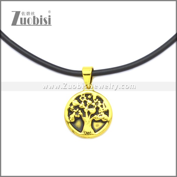 Rubber Necklace W Stainless Steel Clasp n003186HG