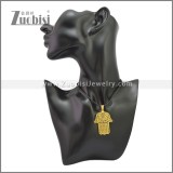 Rubber Necklace W Stainless Steel Clasp n003176HG1