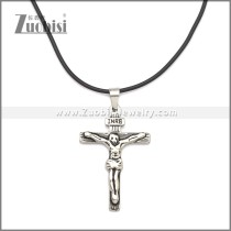 Rubber Necklace W Stainless Steel Clasp n003181HA