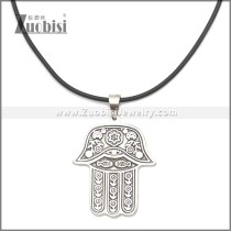 Rubber Necklace W Stainless Steel Clasp n003176HS2