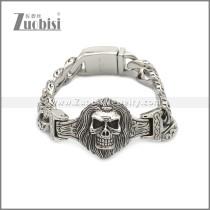 Mens Skull Bracelets Stainless Steel b010094S