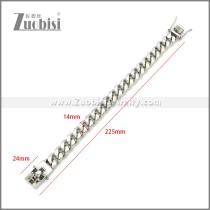 Stainless Steel Bracelets b010108S