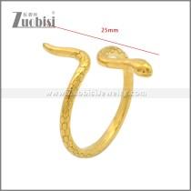 Gold Plating Stainless Steel Snake Ring r008911G