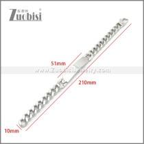 Stainless Steel Bracelet b010116S