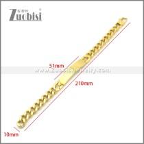Stainless Steel Bracelet b010116G
