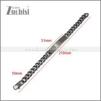 Stainless Steel Bracelet b010116H