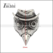 Stainless Steel Ring r008923SA
