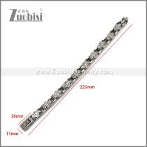 Stainless Steel Bracelet b010127SA