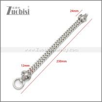 Silver Stainless Steel OX Bracelet b010132S