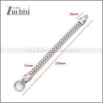 Stainless Steel Snake Bracelet b010135S