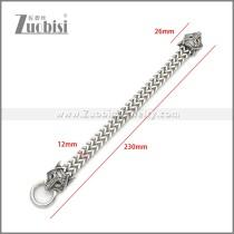 Stainless Steel Wolf Viking Bracelet b010136S