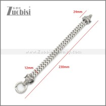 Stainless Steel Sheep Bracelet b010137S
