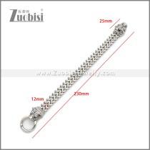 Stainless Steel Tiger Bracelet b010145S