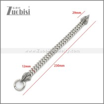 Stainless Steel Rooster Cock Bracelet b010139S