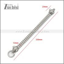 Stainless Steel Boar Bracelet b010141S