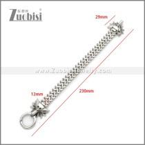Stainless Steel Dragon Bracelet b010143S